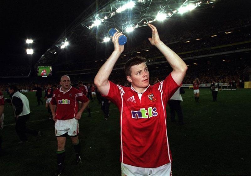 Brian O'Driscoll applauds