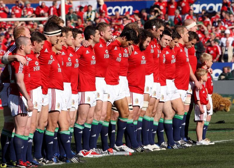 Lions line up for the anthems