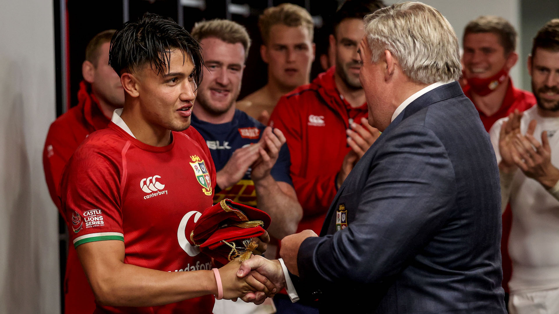 Marcus Smith is presented with his first cap
